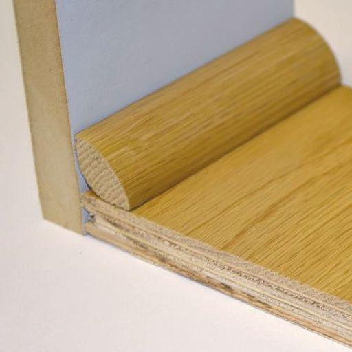 Unfinished Solid Oak Quadrant Beading, 19x19 mm, 2.0 m Image 2