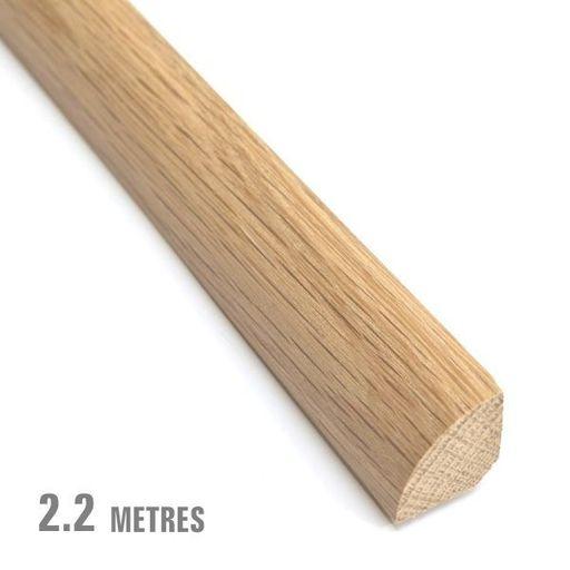 Unfinished Solid Oak Quadrant Beading, 19x19 mm, 2.2 m Image 1