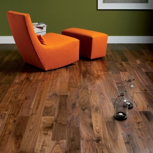 Tradition Engineered Walnut Flooring, Rustic, Lacquered, 190x4x20 mm Image 1