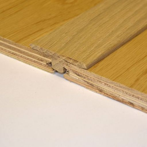 Unfinished Solid Oak T-Shaped Threshold, 90 cm Image 1