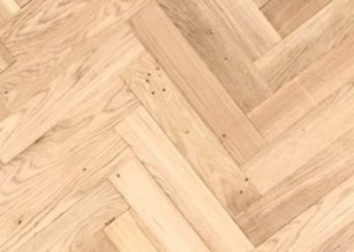 Tradition Classics Solid Oak Overlay Parquet Flooring, Unfinished, Rustic, 10x70x350 mm