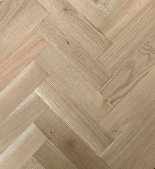 Tradition Classics Herringbone Engineered Oak Parquet Flooring, Unfinished, Rustic, 70x20.6x280 mm