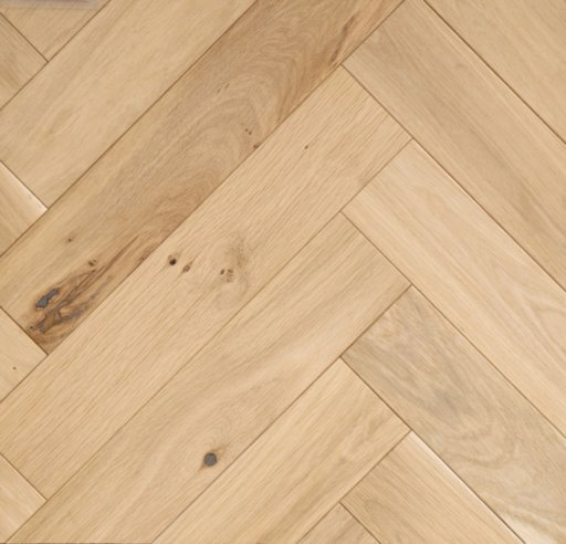 Tradition Classics Herringbone Engineered Oak Parquet Flooring, Unfinished, Rustic,100x20.6x500 mm