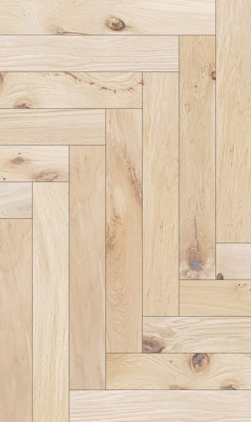 Tradition Classics Herringbone Engineered Oak Flooring, Rustic, Unfinished, 120x15x600 mm