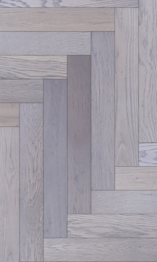 Tradition Classics Herringbone Engineered Oak Flooring, Rustic, Grey Oiled, 120x15x600 mm