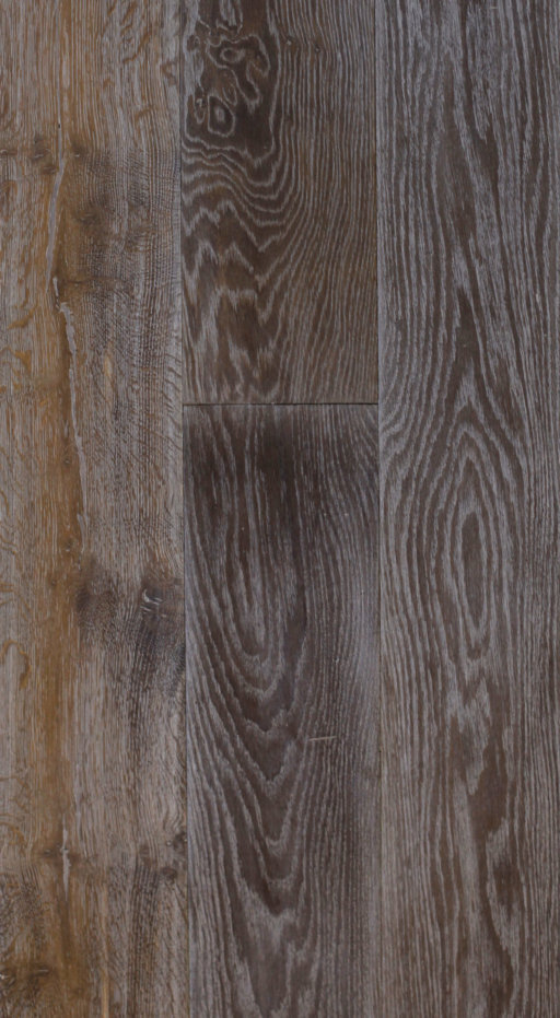 Tradition Classics Engineered Oak Flooring, Rustic, Double Smoked, Brushed & White Oiled, 190x20x1900 mm