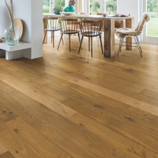 QuickStep Castello Barrel Brown Oak Engineered Flooring, Oiled, 145x3x14 mm