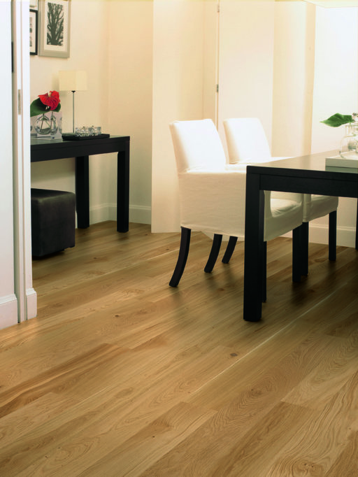 QuickStep Compact Natural Oak Engineered Flooring, Matt Lacquered, 145x2.5x12.5 mm