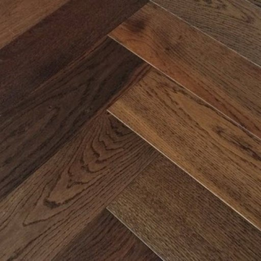 Elka Dark Smoked Oak Herringbone Engineered Flooring, 14x3x600 mm