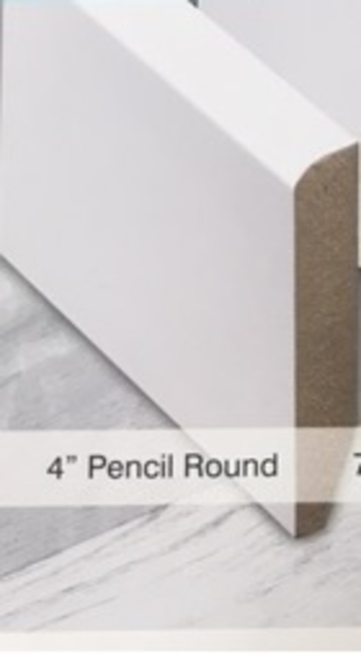 Tradition 4'' Paintable Pencil Round Skirting Profile