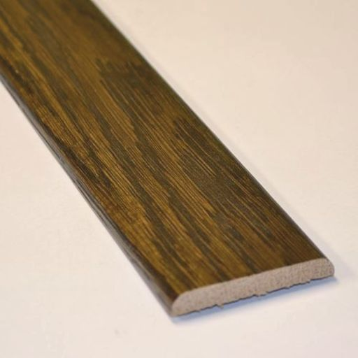 Solid Dark Oak Flat Threshold Strip, Lacquered, 0.9m