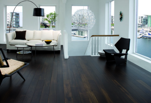 Junckers Black Oak Boulevard Solid Wood Flooring, Harmony, Oiled, 185x20.5 mm
