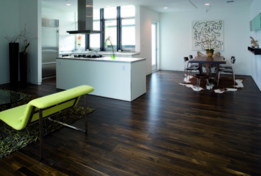 Junckers Solid Black Oak 2-Strip Flooring, Ultra Matt Lacquered, Harmony, 129x14 mm