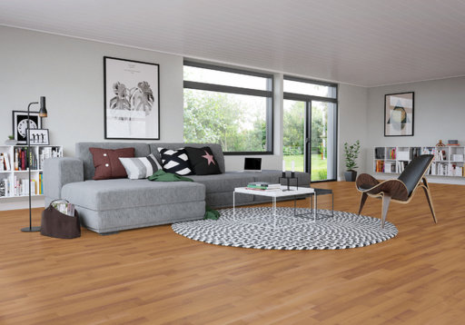 Junckers Beech SylvaKet Solid 2-Strip Flooring, Silk Matt Lacquered, Classic, 129x22 mm