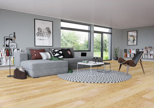 Junckers Light Ash Solid Wood Flooring, Ultra Matt Lacquered, Classic, 140x20.5 mm