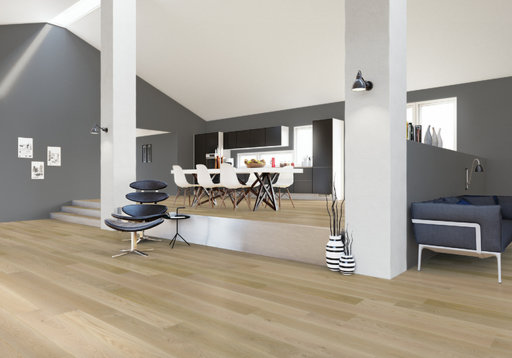 Junckers Nordic Oak Boulevard Solid Wood Flooring, Ultra Matt Lacquered, Harmony, 1-Strip, 185x20.5 mm