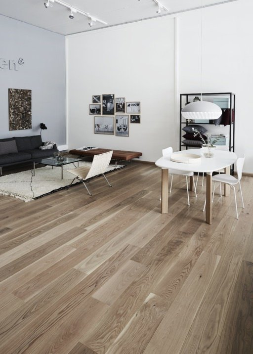 Junckers Solid Oak Boulevard Wood Flooring, Untreated, Harmony, 185x20.5 mm