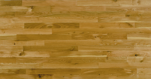 Junckers Solid Oak 2-Strip Flooring, Silk Matt Lacquered, Harmony, 129x22 mm