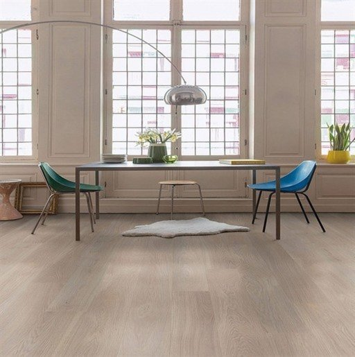 QuickStep Palazzo Frosted Oak Engineered Flooring, Oiled, 1820x190x14 mm