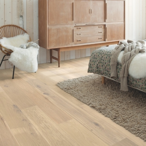 QuickStep Palazzo Oat Flake White Oak Engineered Flooring, Oiled, 1820x190x14 mm