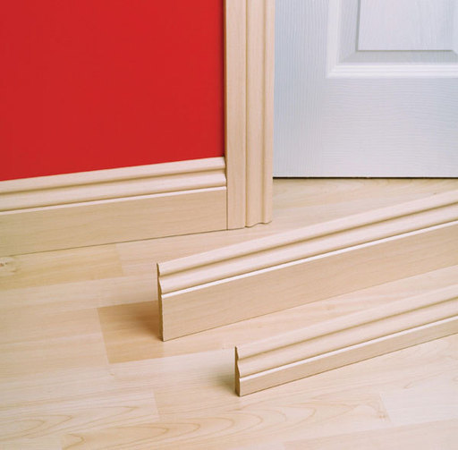 Unika White MDF Skirting Board, 20x115 mm, 2.4 m