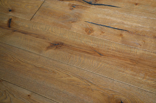 Tradition Antique Engineered Oak Flooring, Distressed, Brushed, Grey Oiled, 2200x15x220 mm