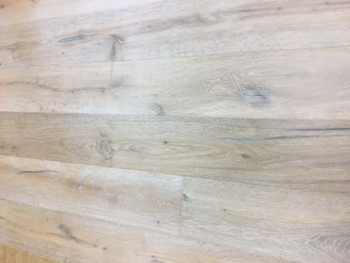 Tradition Antique Engineered Oak Flooring, Distressed, Brushed, Smoked White Oiled, 2200x15x220 mm