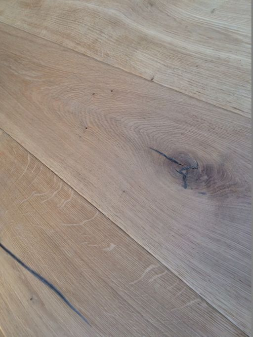 Tradition Antique Engineered Oak Flooring, Rustic, Distressed, Brushed, Unfinished, 220x20x2200 mm
