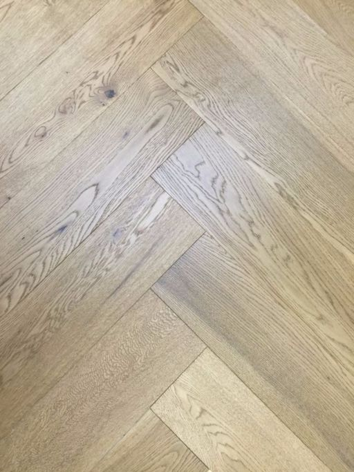 Tradition Engineered Oak Parquet Flooring, Herringbone, Smoked Stain, Brushed & UV Oiled, 600x14/3x150 mm