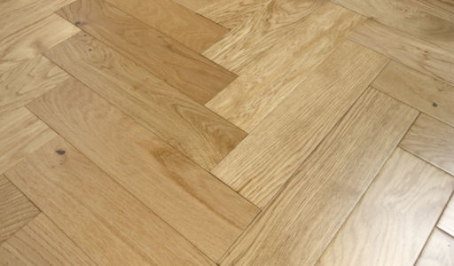 Tradition Engineered Oak Parquet Flooring, Natural, Lacquered, 90x18x400 mm
