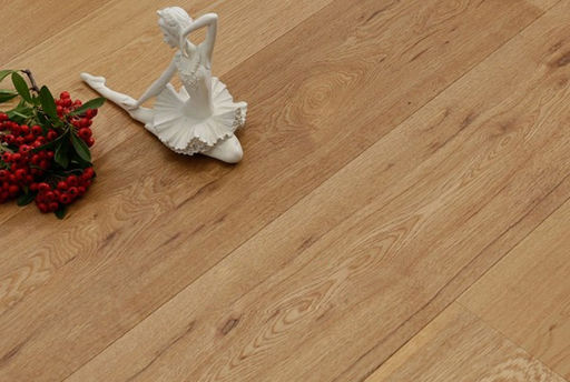 Tradition Oak Engineered Flooring, Rustic, Brushed, Oiled, 1860x15x190 mm