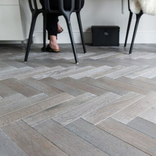 V4 Silver Haze Engineered Oak Parquet Flooring, Rustic, Stained, Brushed & Hardwax Oiled, 90x15x360 mm
